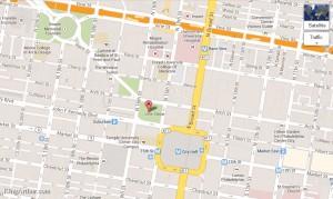 Map of Love Park, Philadelphia, PA