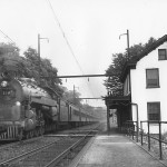 1950 - Reading Railroad's Shamokin Express passing Shawmont