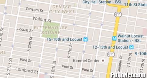 Rittenhouse Square Map of Philadelphia