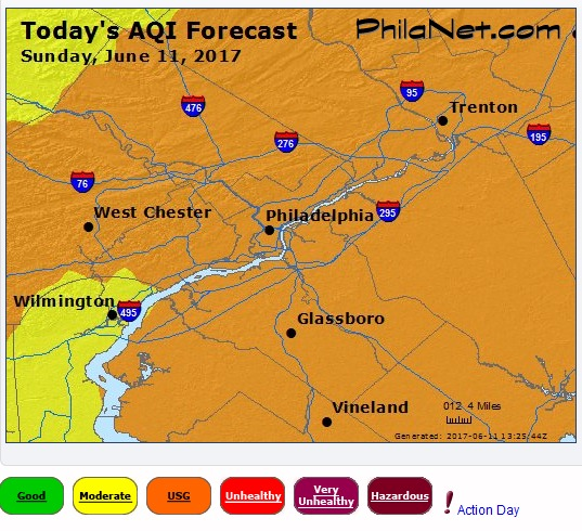 Philadelphia Air Quality Alert
